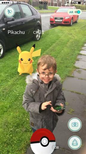 Another Pokemon sneaks up on this poor child. Thanks, Vickie!