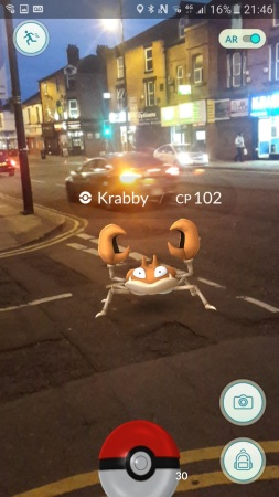 You're a loooong way from the sea, Krabby!