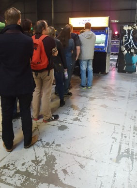 Arcade Queue for Time Crisis 2. Eugh!